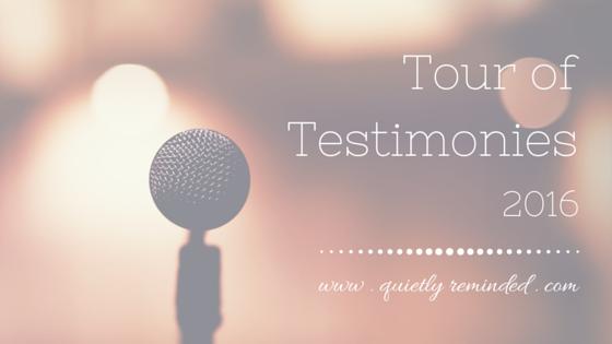 Tour of Testimonies 2016